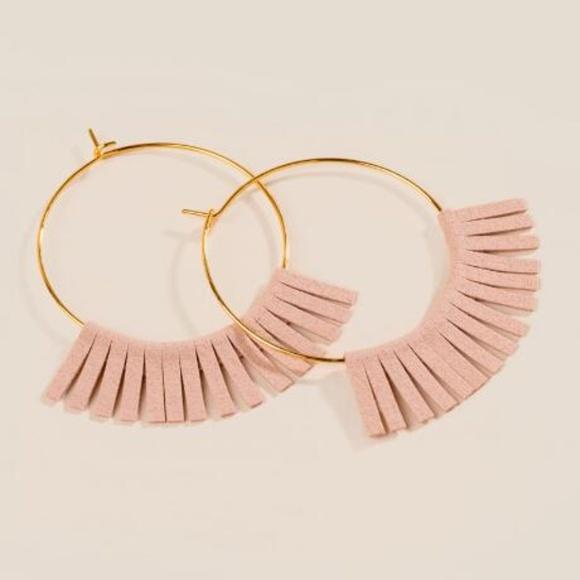 d7e1e501ea2fc Delicate Fringe Gold Hoop Earrings